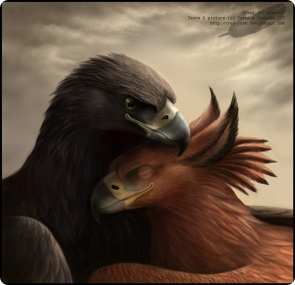 Eagle_and_his_gryphon_by_Red_IzaK