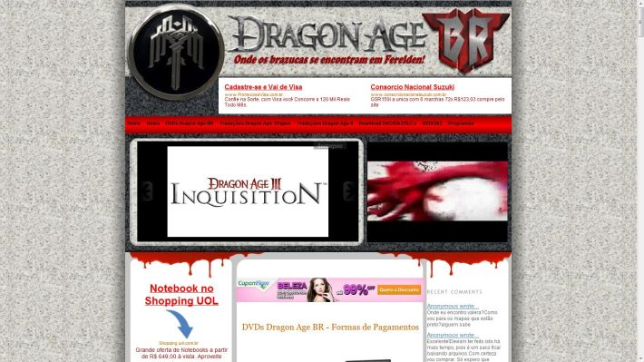 Dragon Age BR site sobre dragonage