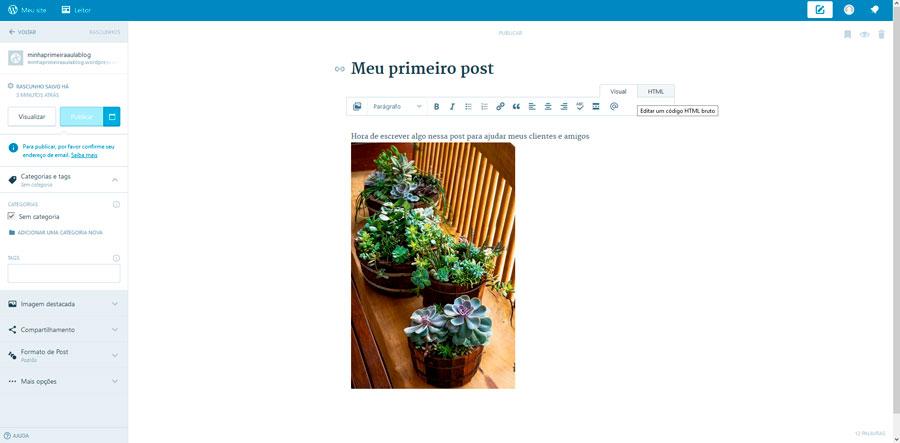 Painel do wordpress