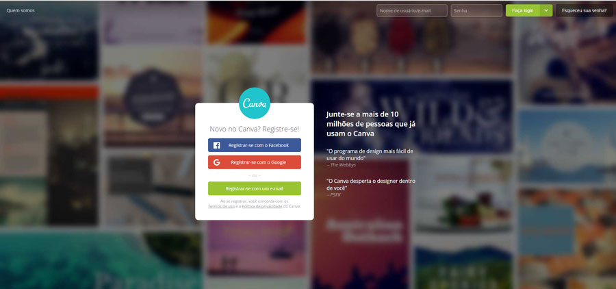 Canva editor de imagem online para Marketing de conteúdo. indicado por Jasper Designer